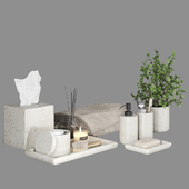 Pottery Barn Frost Marble Bath Accessories