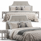 Arched Tufted Headboard Bed