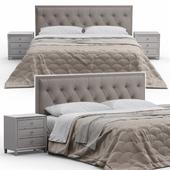 Alix Tufted Headboard Bed