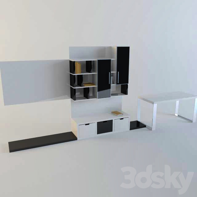 """Table and a wardrobe """"Black and White"""""""