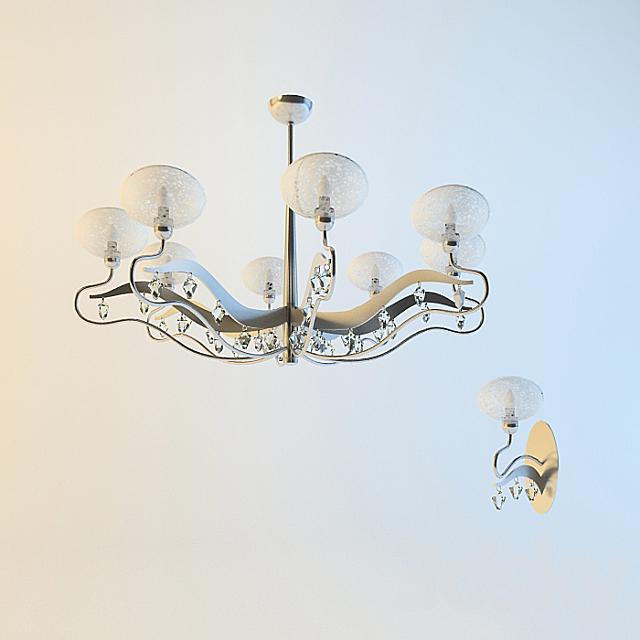 chandelier, Sconce Preziosa