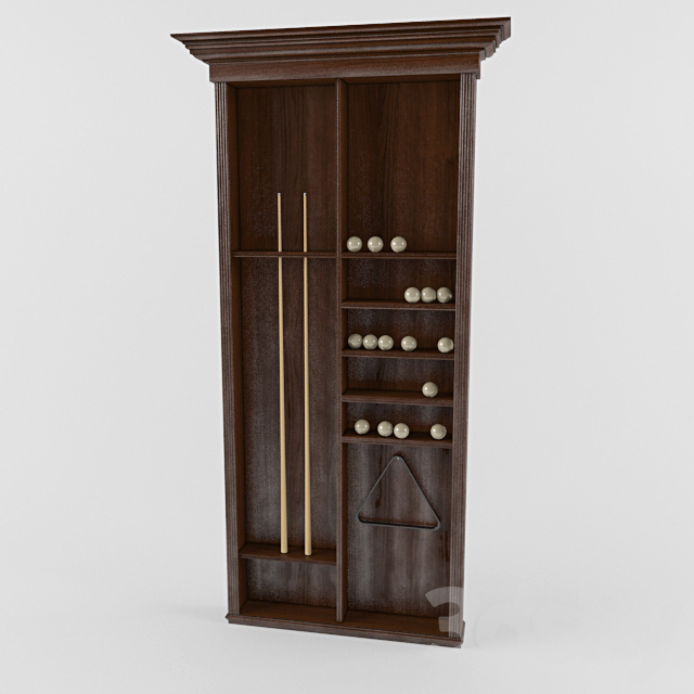 Cabinet in the billiard room