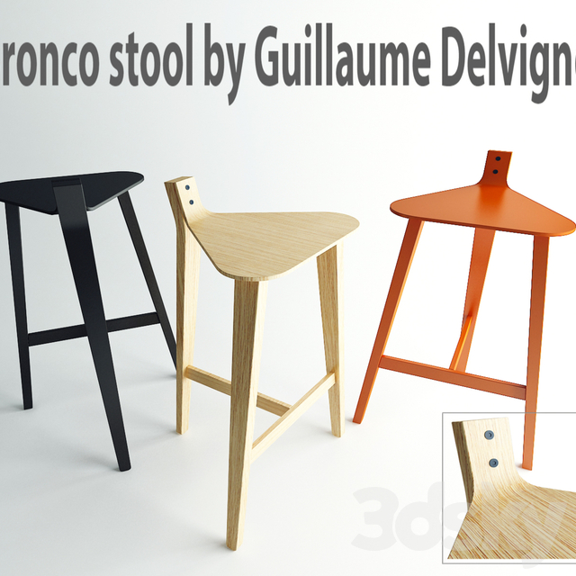Bronco stool by Guillaume Delvigne