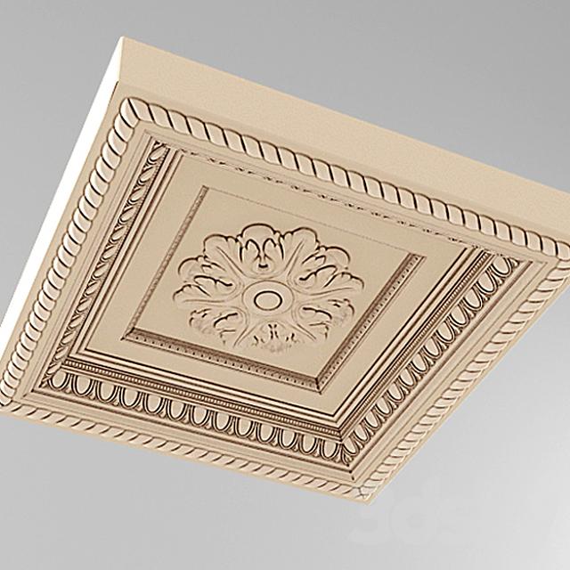 caisson ceiling stucco square