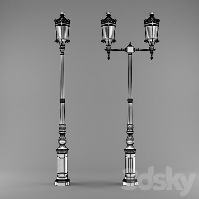 "3d models: Street lighting - Streetlight ""Palacio"""