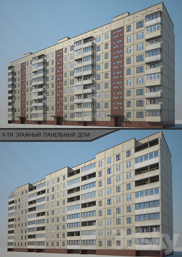 Panel 9-storey residential building