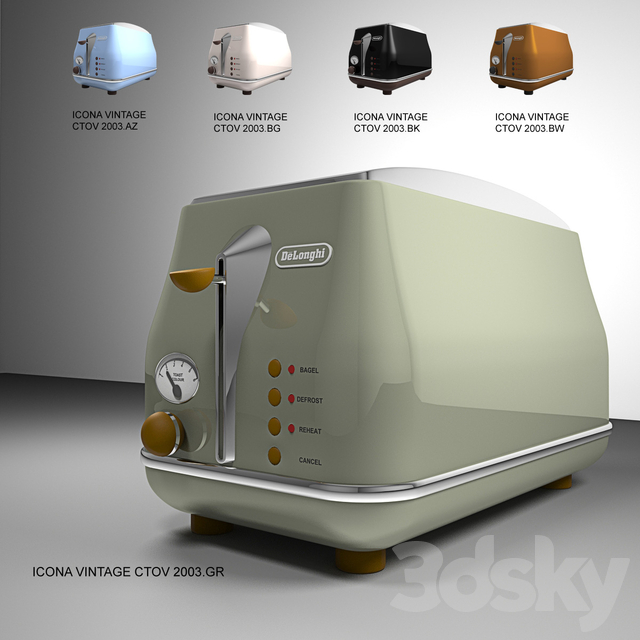 Toaster Delonghi Icona Vintage