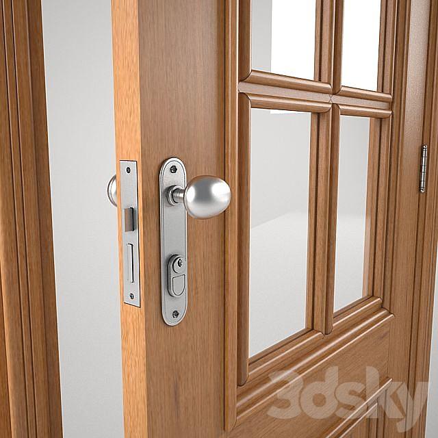 Wooden door and glass Brazilian standard