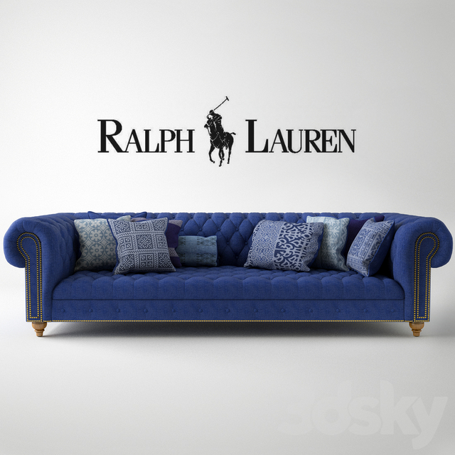 Ralph Lauren Home Indigo Chesterfield Sofa