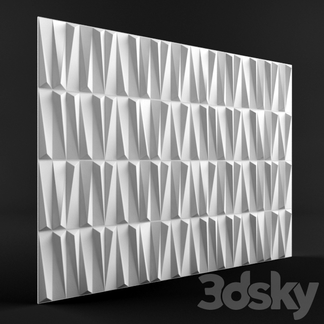 Glass 3d panel (bamboo)