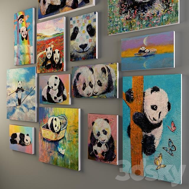 "Paintings ""Panda"" Michael Creese"