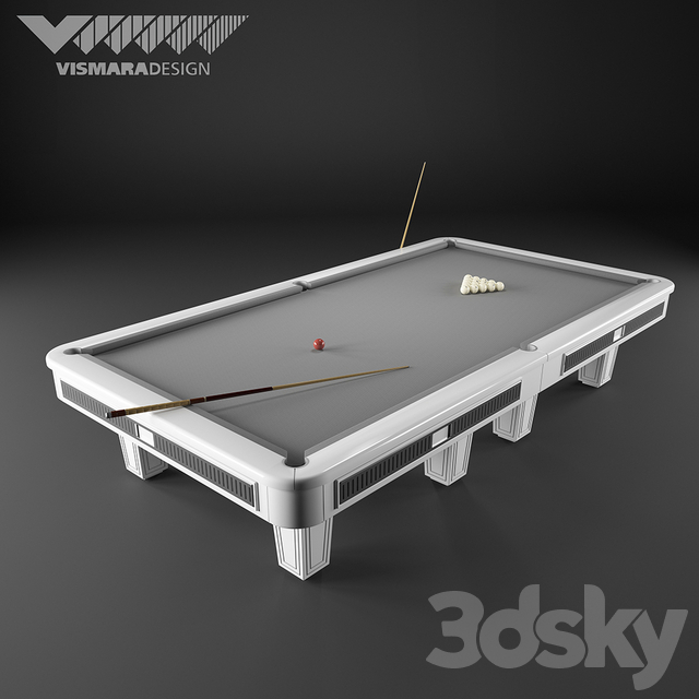 Pool table Vismara Design RUSSIAN POOL - ART DECO