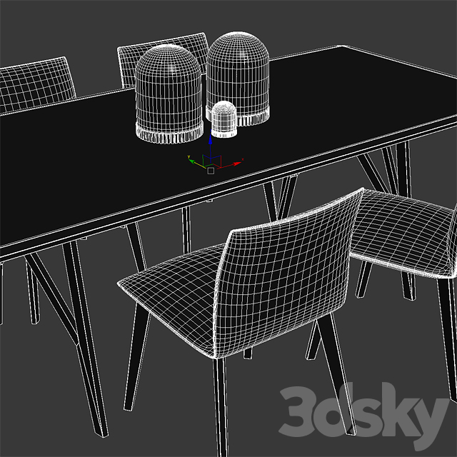 Jalis Chair, Jalis dining table, COR