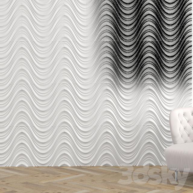 3d wall wavy