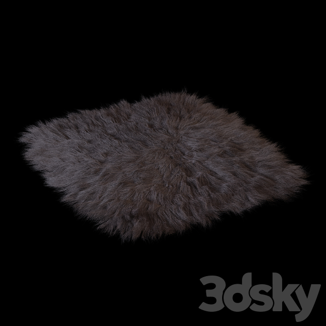 A carpet of sheep skins