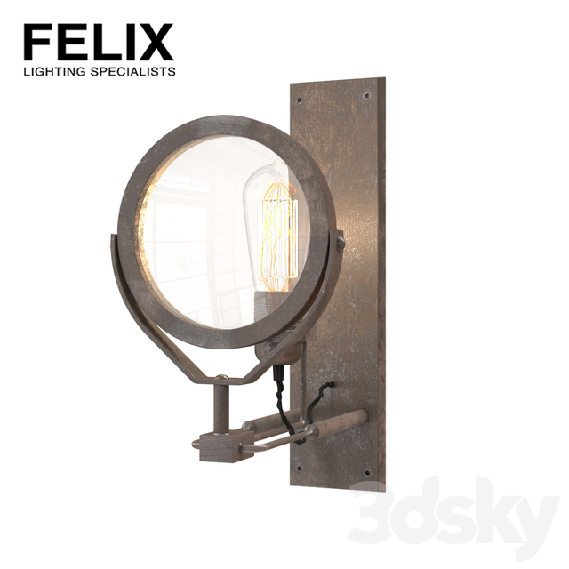 Felix Vintage Magnifying Glass wall light