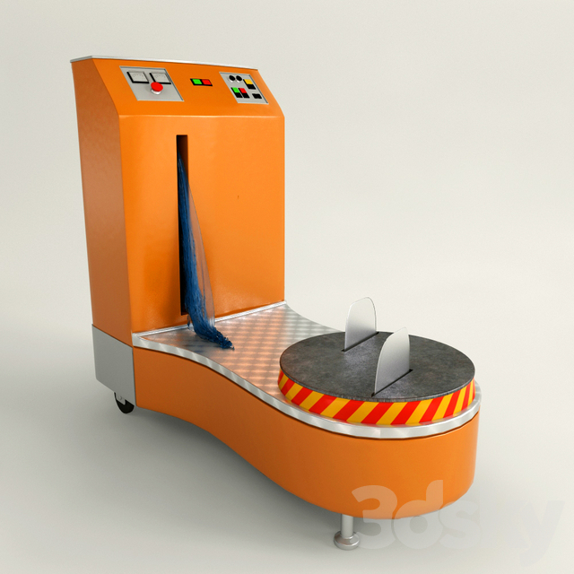 The machine for packing luggage