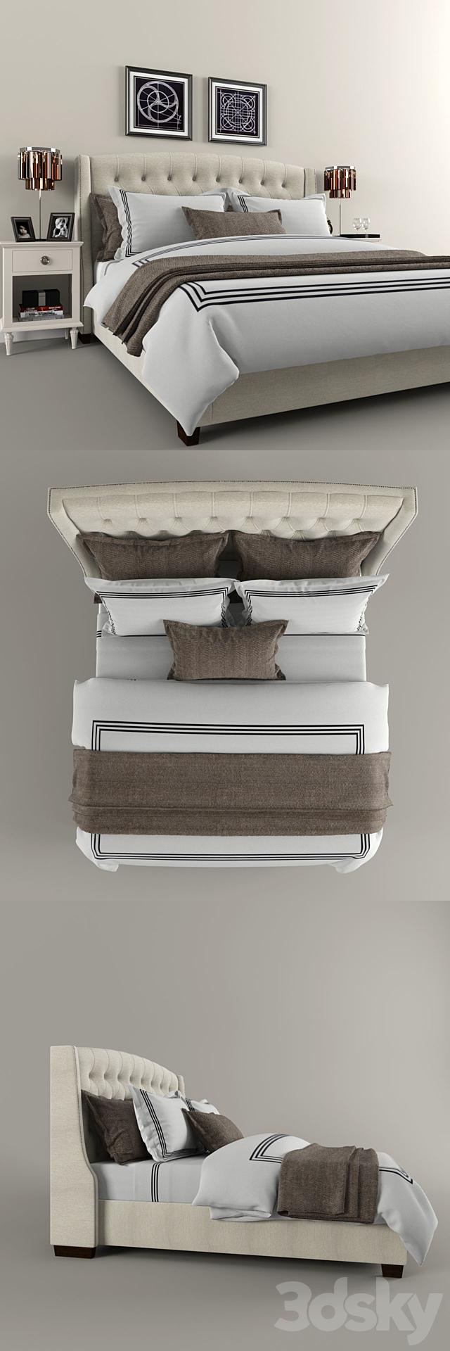 Restoration Hardware Warner Tufted bed