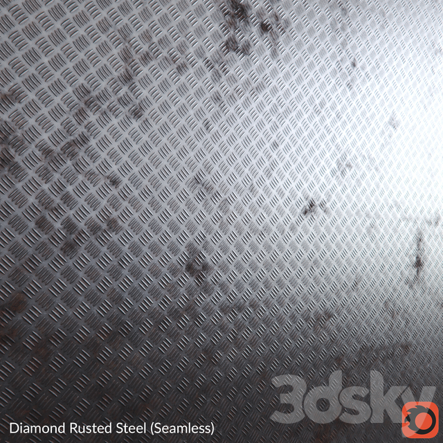 Rusted Diamond Steel