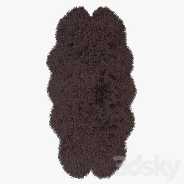Sarpet of artificial sheepskin brown