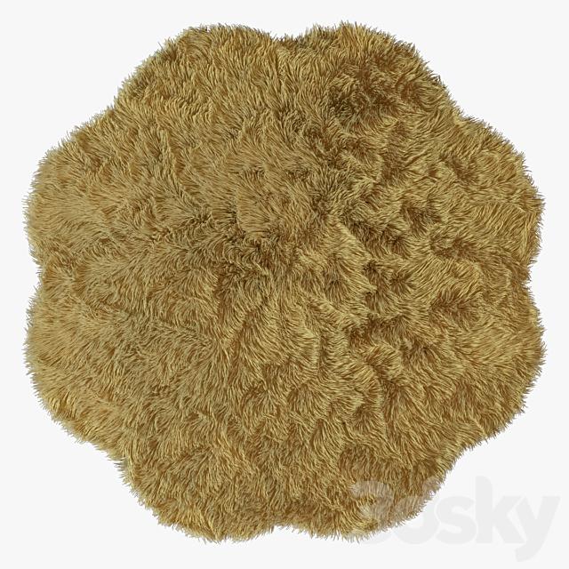 New Zealand sheepskin beige figure