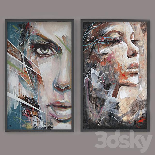 """Set of modern paintings """"ART"""""""