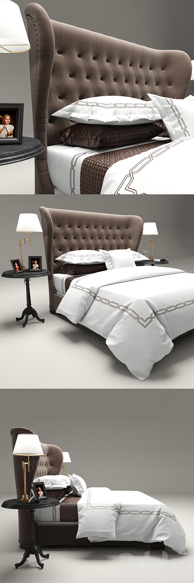 Restoration Hardware Churchill Fabric bed