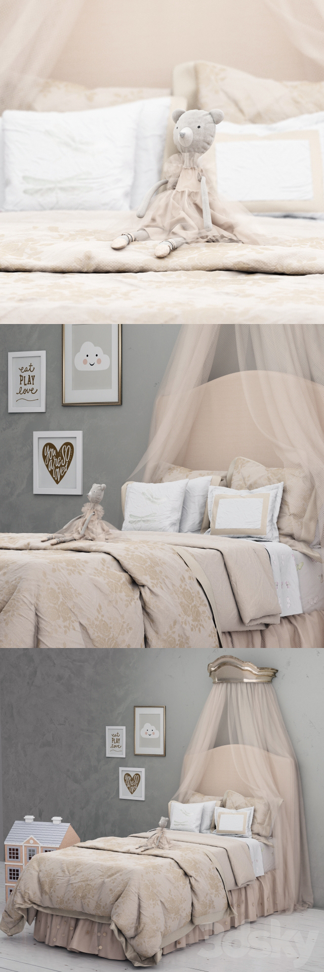 Monique Lhuillier Upholstered Camelback Bed, Pottery Barn Kids
