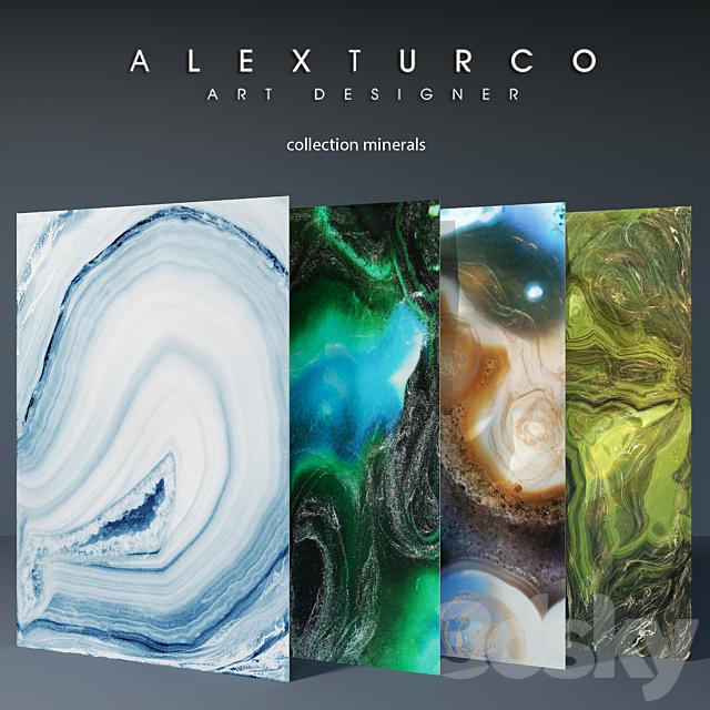 "Art-panel ""Alex Turco"" collection ""Minerals"""