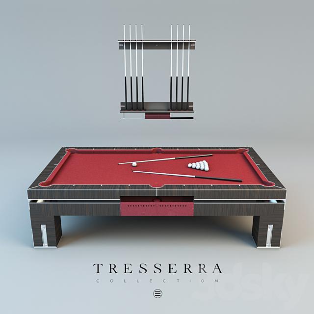 Pool table and cue rack Tresserra Bolero. Pool table and Cue Rack.