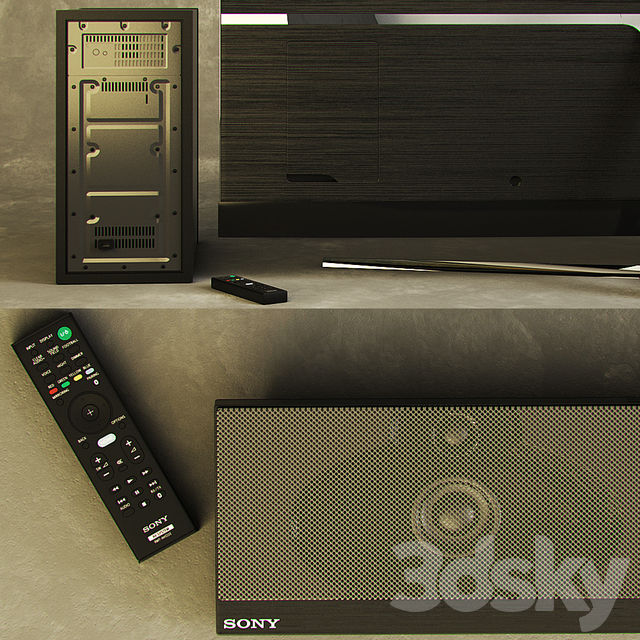 TV SAMSUNG UE55KS8000 55-inch Smart TV SUHD. Sound Projector SONY HT-NT5.
