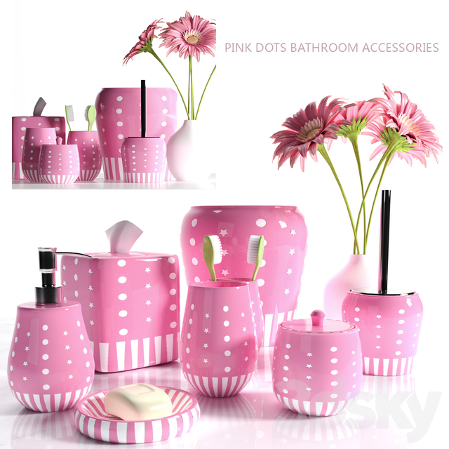 PINK BATHROOM ACCESSORIES