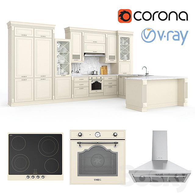 Kitchen VERONA-mobili UNICA + SMEG appliances