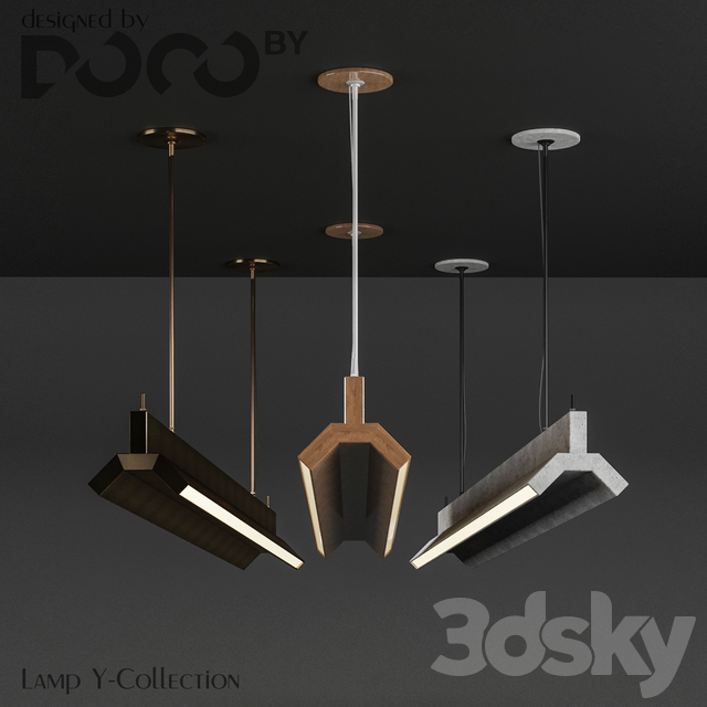 Luminaire Y-Collection from the interior design studio DOCOby