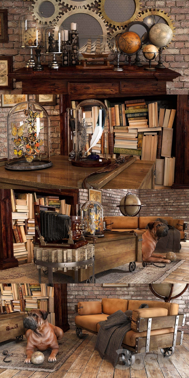 Loft decorative set