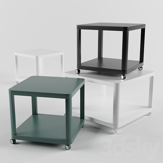 IKEA TINGBY side tables on castors