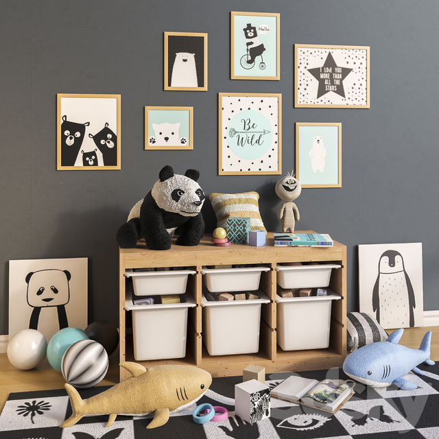 Furniture and toys IKEA, decor for a children's room set 2