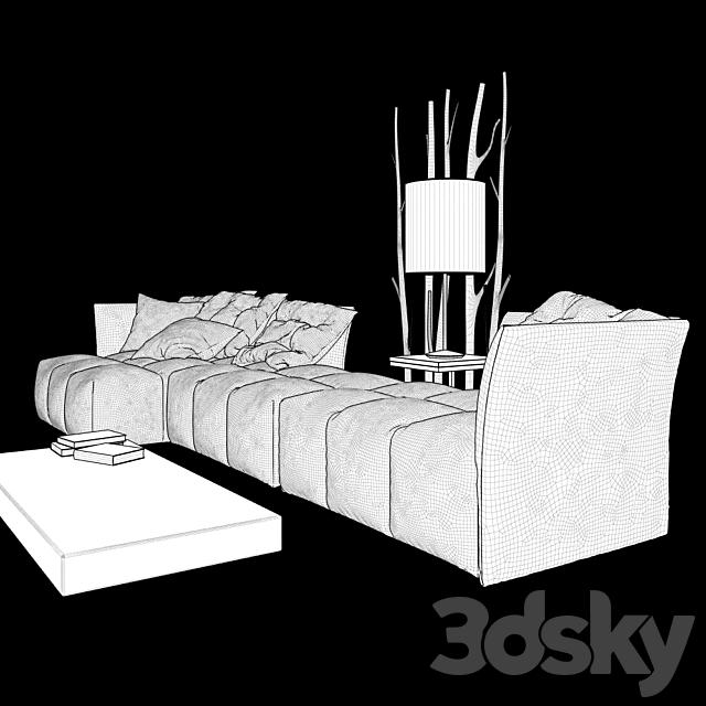 PIXEL Fabric sofa
