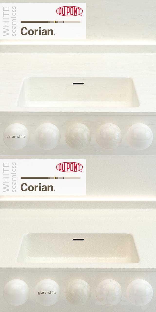 Dupont Corian Kitchen Countertops White 2