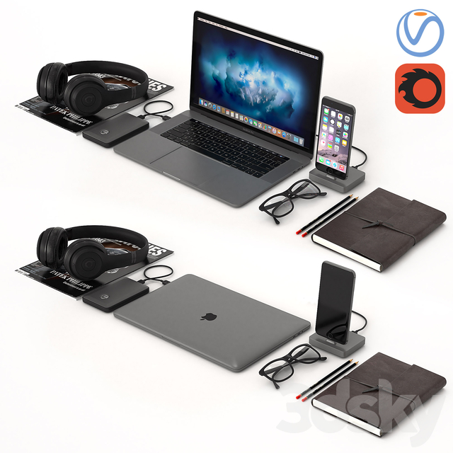 Workplace Space Gray MacBook