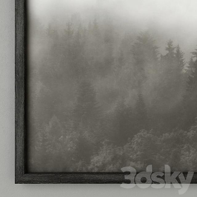 RH Mountain Landscape Vellum Diptych Set