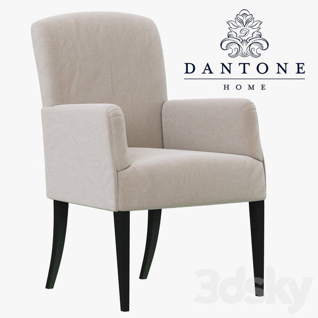 Dantone Home Chair-armchair Bordeaux-2 with flat back