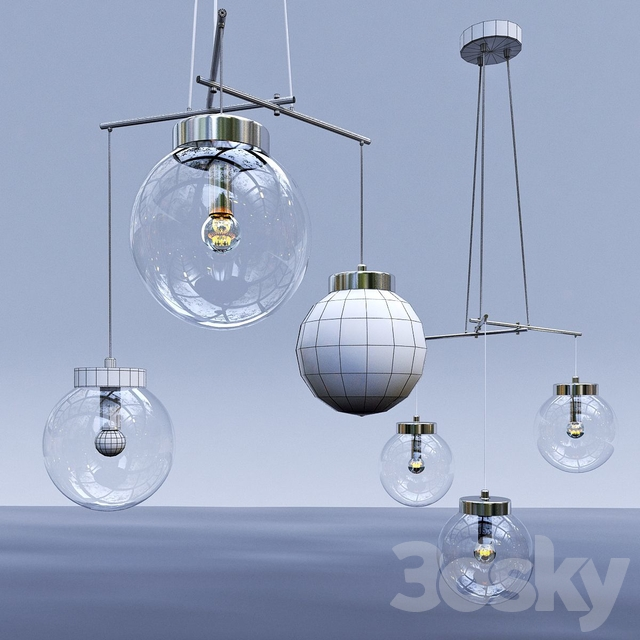 Model SICILY, suspended lamp from the company LAMPGUSTAF, Sweden.