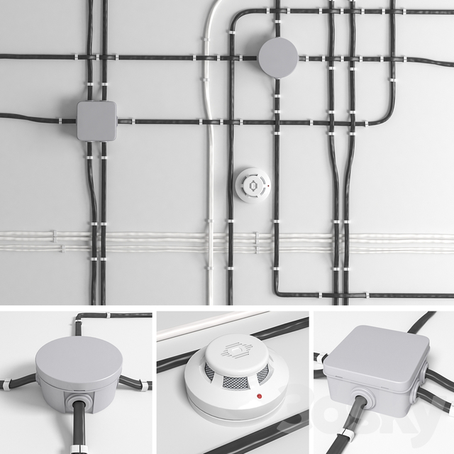 A set of wires for electrical wiring.