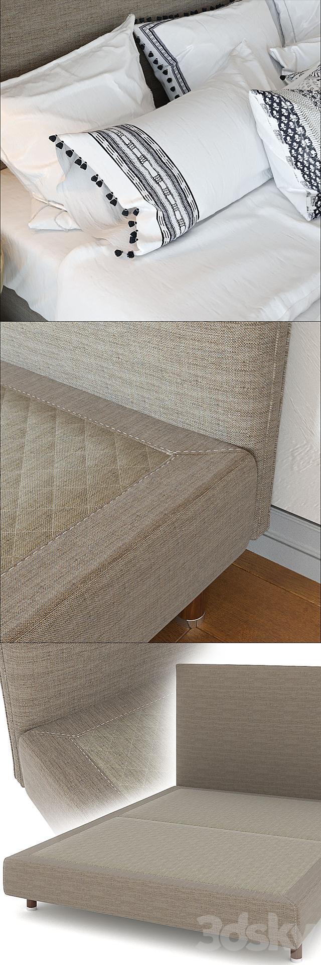 Zara Home Linen Collection Bedding + Greco Strom Bed # 7