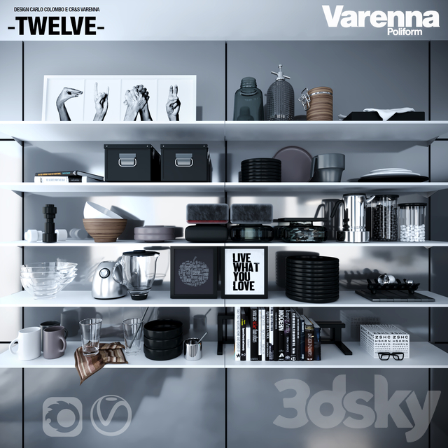 Poliform Varenna Twelve kitchen set