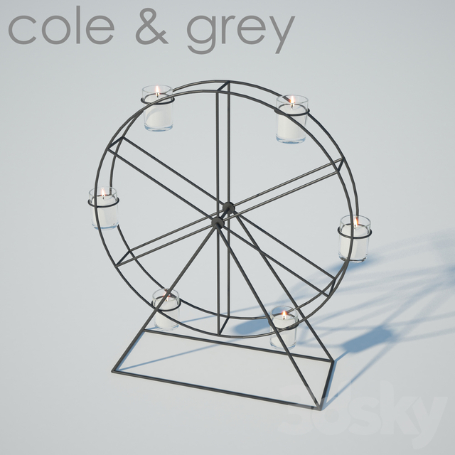 Ferris Wheel Candelabra | Metal And Glass | Candles