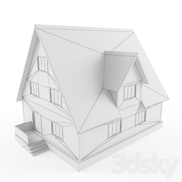 Two-story wooden house
