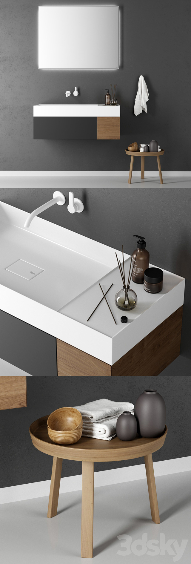 Washbasin Falper Quattro Zero