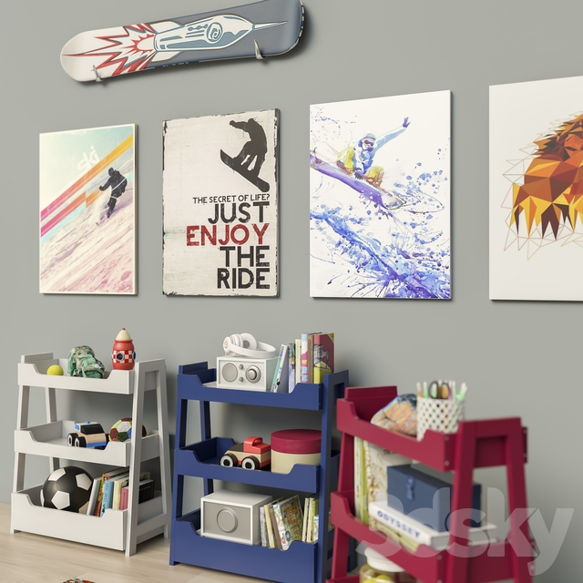 Toys and Small Bookcase (3 colors) set 18
